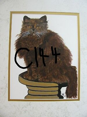 "C102  Original Acrylic Painting By Ljh    ""Tootsie""      Cat 5"