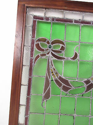 Vintage Stained Glass Ribbon Hanging Window (1265)NJ 2