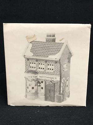 Dept 56 Dickens Village Series Geo Weeton Watchmaker Porcelain Collectible 8