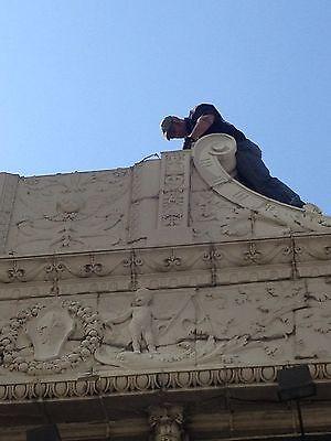 3 Story Terra Cotta Building Facade Front Cherubs Dolphins 35 Feet Tall 11