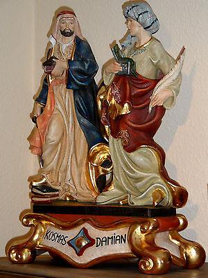 Kosmas & Damian Skulptur Holz/ woodcarving Apotherker, Figuren 3