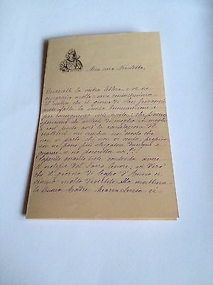 1886 --Meia cara Nicoletta (4 Page signed letter w/Envelope, Napoli, Cento Baci 2
