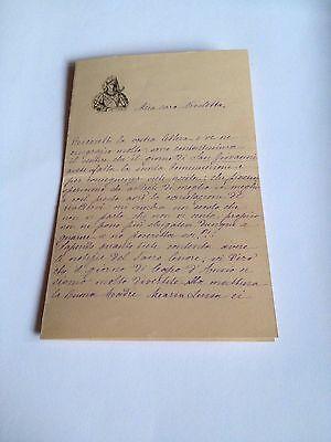 1886 --Meia cara Nicoletta (4 Page signed letter w/Envelope, Napoli, Cento Baci 2