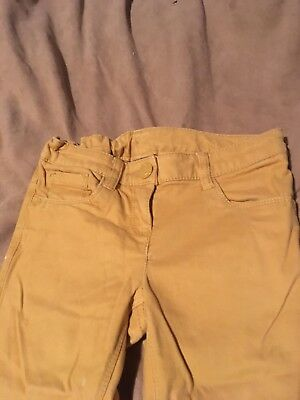 Next Girls Yellow Trousers Size 8 Years Great Condition 2
