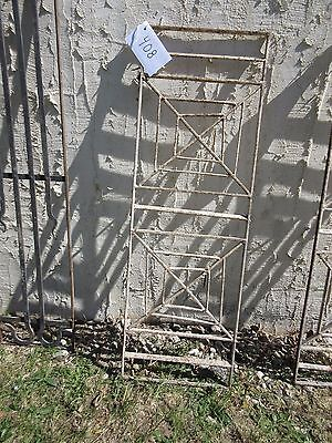 Antique Victorian Iron Gate Window Garden Fence Architectural Salvage Door #408 4