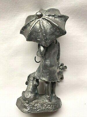 MIichael RICKER CENTAUR GIRL Holding Umbrella Pewter Figurine # 3105
