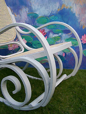 Antique French Rocking chair bergere chair nursing chair shabby chic vintage 8