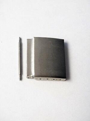 Minott Metallbandverlängerug mit Stufe Edelstahl silberfarben matt gebürstet