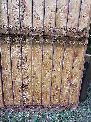 Antique Victorian Iron Gate Window Garden Fence Architectural Salvage Door U 2
