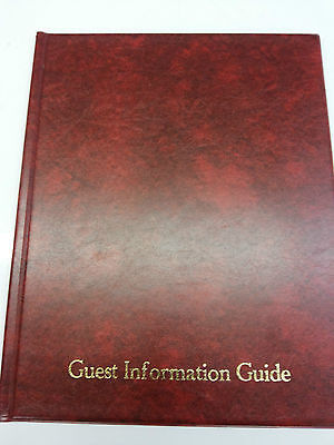 Guest Information Guide Pvc Folder 7 A4 Double Pockets Ref Red/Gold 3