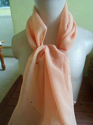 1 NEW Colourful Mixed Fibre Ladies Scarf PEACH+SEQUIN DETAIL ~ Gift Idea #39 2