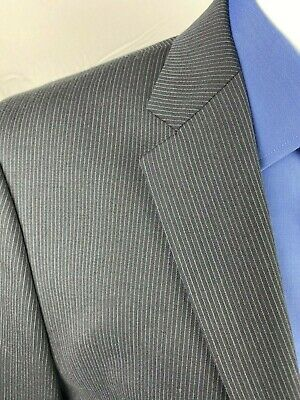 Joe Joseph Abboud Mens Large Dress Suits Navy Blue Pin Stripe 2