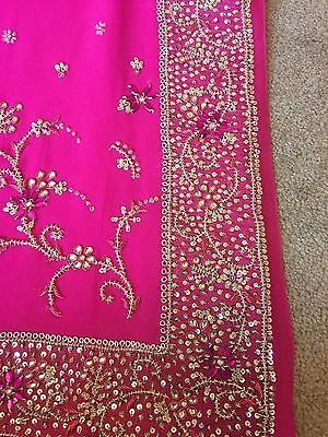 Saree- Bollywood Fashion Wedding Party Wear Heavy Designer Sari Indian Asian 5