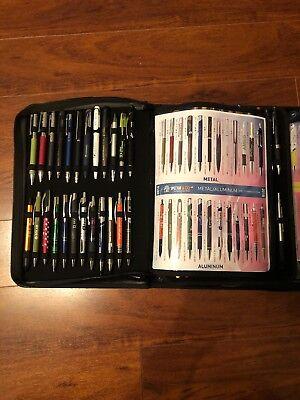 Salesman Sample 72 Count New In Box Nib Branded Pen Pens Lot Display Case Metal 6