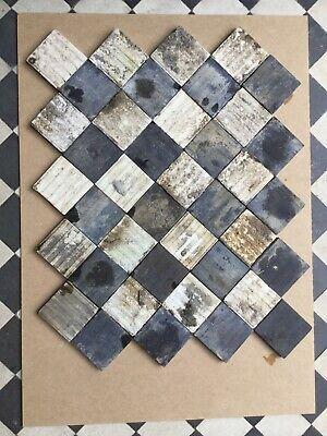 Encaustic Reclaimed Antique Victorian floor path tiles 4