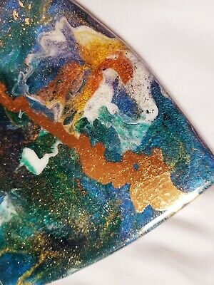 "9"" Resin Heart on Wood - Resin Art - Abstract Art - Resin Painting 5"