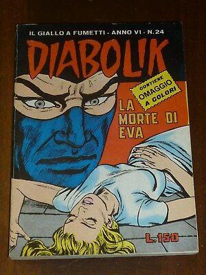Diabolik Anno Vi Numero 24 Con Adesivi Astorina 1967 Originale - Ottimo !! 4