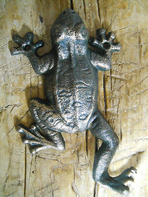 Cast Iron Antique Style Nautical FROG Coat Hooks Hat Hook Rack Towel Sea TOAD 2