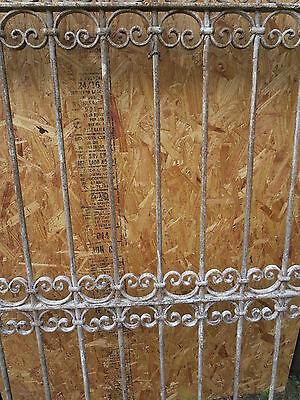 Antique Victorian Iron Gate Window Garden Fence Architectural Salvage Door T 7