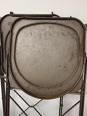 Steel Vintage 50s 1950s Folding Utilitarian Chair Chairs 8