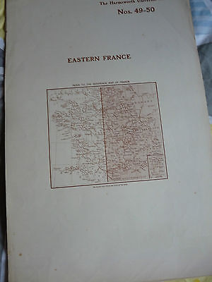 1900/1908 antique map EASTERN FRANCE  Harmsworth Universal 15 in x 22 in approx