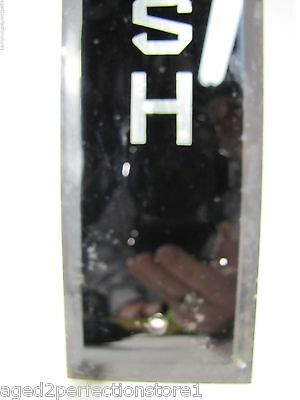 Antique Bevel Edge Glass Door Push Plate 'PUSH' sign old architectural hardware