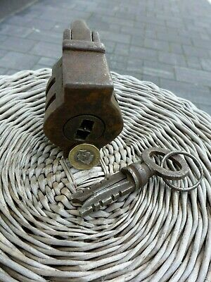 Antique Large Padlock With One Working Key Unique Made in Russia 27-01 6
