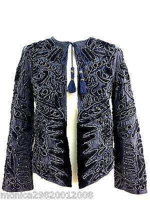 3 sur 12 Bleu pour Femmes Veste Blazer Embroiedred Zara TAILLE S Ref 5770  241 29d5bf291486