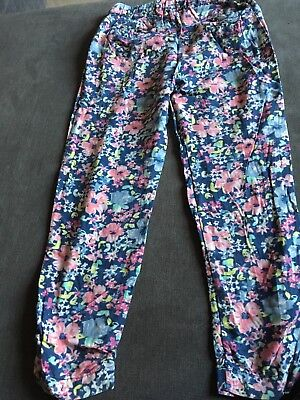 Next Girls Blue Pattern Trousers Size 7 Years Good Condition 4