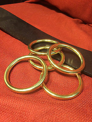 "2"" I.D. Solid Brass O Rings for Belts Tack SCA LARP Medieval Dagohir Ren Faire"