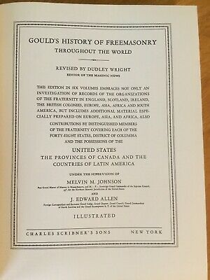 Gould's History Of Freemasonry Throughout The World 1936 Vol. IV Dudley Wright 6