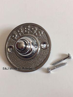 Round Door Bell Antique Mains Wire Vintage Push Button Chrome Victorian Doorbell 6