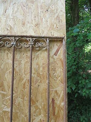 Antique Victorian Iron Gate Window Garden Fence Architectural Salvage Door U 5