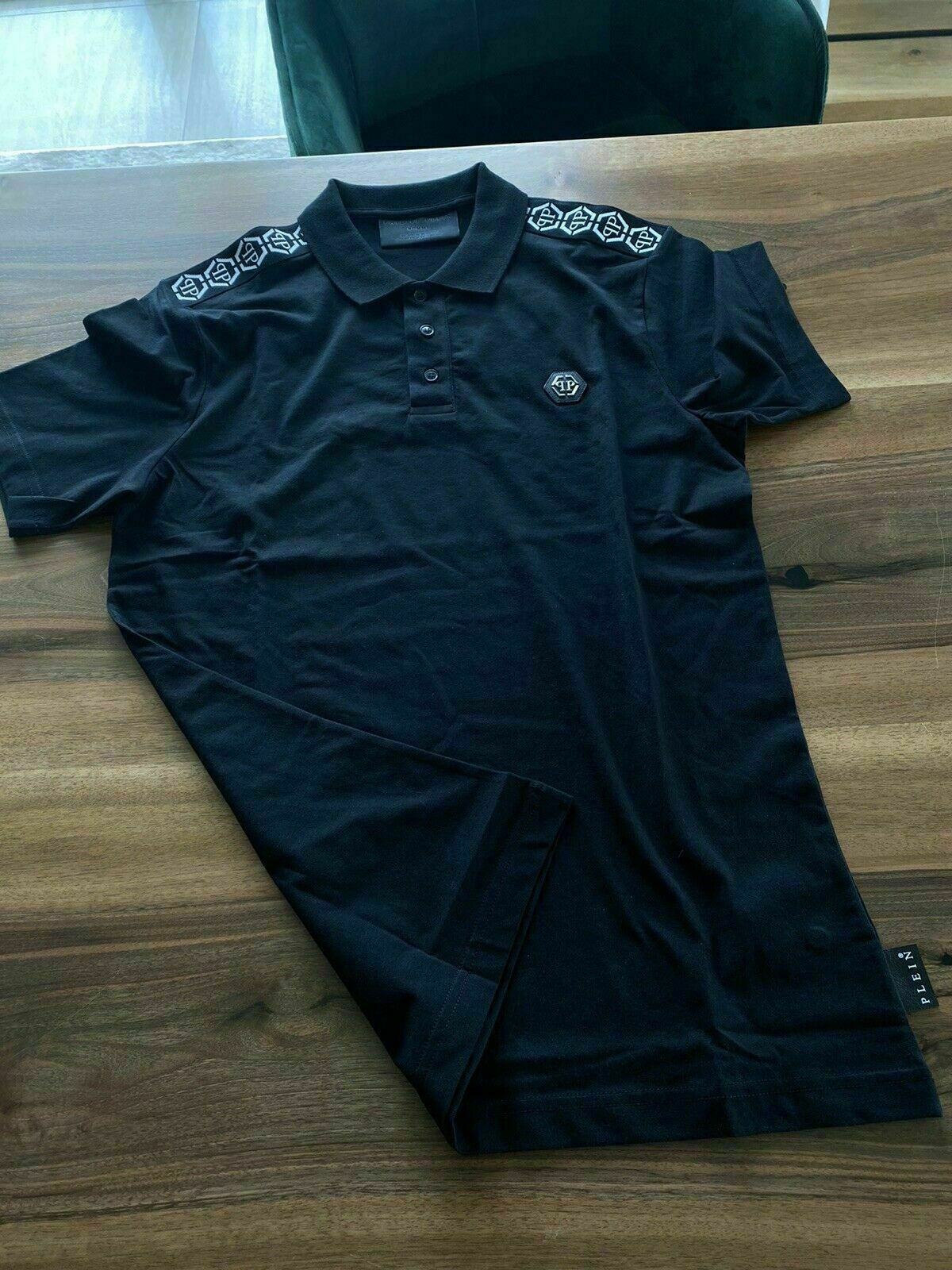 Philipp Plein New Season Iconic Cult Tape Polo Shirt Polohemd Shirt T-shirt L