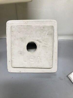 "VTG Mid Century 5"" Cream Bathroom Accessory Porcelain Ceramic Glossy Soap dish 3"