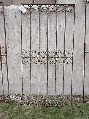 Antique Victorian Iron Gate Window Garden Fence Architectural Salvage Door #331 5