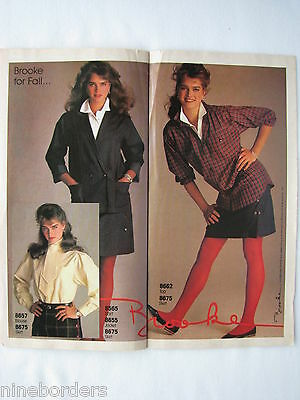 VG COND. BROOKE SHIELDS in Sep 1983 McCall/'s brochure Vintage 1980/'s