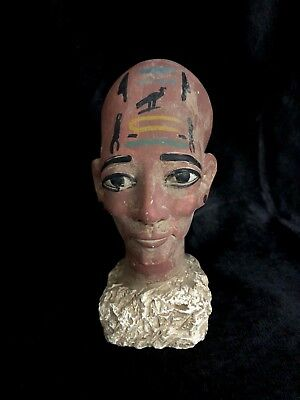 EGYPTIAN ART ANTIQUES STATUE Meritaten Akhenaten Daughter Carved Stone 1356-BCE 2