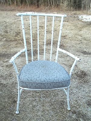 PAIR OF EARLY 20th CENTURY WINDSOR IRON FAUX BAMBOO TURNED REGENCY GARDEN CHAIRS