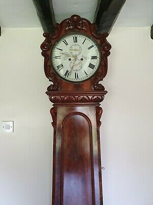 A Magnificent Scottish Longcase Flame Mahogany By John Patterson Of Airdrie 1860 3