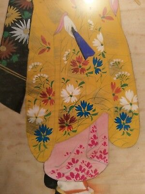 Antique Asian Painting On Silk