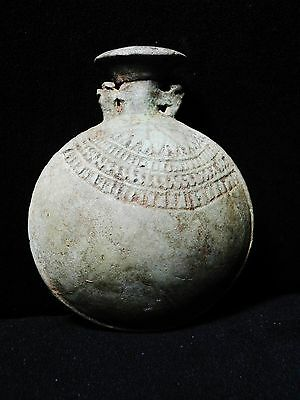 Zurqieh -Ancient Egypt - Very Rare New Year's Faience Vessel, 600 - 300 B.c 2