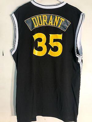 size 40 2fb41 94f91 ADIDAS NBA JERSEY Golden State Warriors Kevin Durant Black Alt sz M