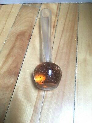 Hand Blown Glass Base Bud Vase Controlled Bubble 2