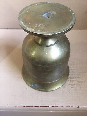 """Vintage Brass Mortar And Pestle, 6"""" High 4 3/4 Diameter, Solid Brass, Heavy 6lbs 11"""