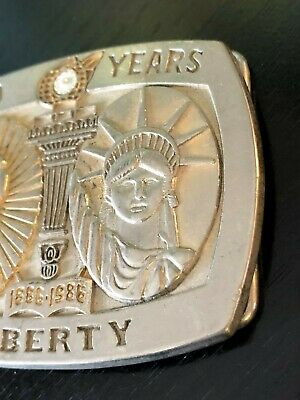 100 Years of Liberty Belt Buckle Statue of Liberty Sterling Treasury Numbered 2