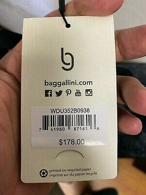 """Brand NEW Baggallini Rolling  Carry-On Duffle Bag Wheeled Luggage Black 21"""" 4"""
