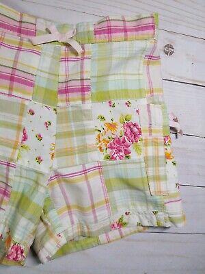 Baby Gap Girls Plaid Madras Shorts Size 18-24M EUC 3
