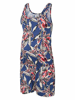 Mamalicious Maternity Blue Print Short Jumpsuit 'mllilias' Sizes Bnwt Rrp £25
