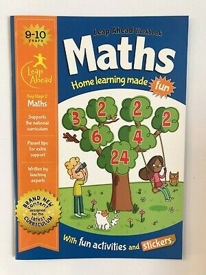 KS2 Maths & English Leap Ahead Home Learning Workbooks Set Ages 9-10 New Year 5 4